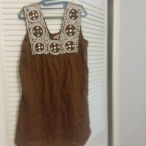 Calypso St. Barths linen mini dress w/pockets